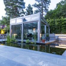 Trest entreprenør har bygget drivhusvanndetalj med foss, legging av skifer oppdal i Oslo og akershus