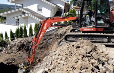 TREST entreprenør grunnarbeid med gravemaskin i Oslo og Akershus