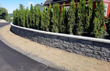 Trest entreprenør har bygget plantebed i knekt blokker fra Aaltvedt og planting av Thuja i Oslo og Akershus