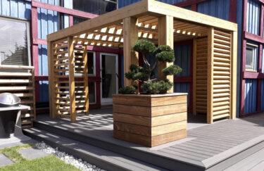 Pergola, terrasse, plantekasse fra Trest entreprenør AS i Oslo og akershus av Kebony