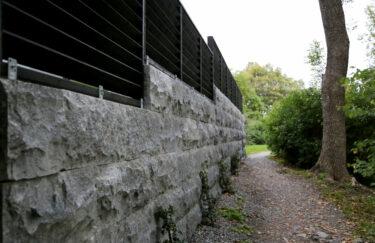 Trest entreprenør har ferdigstilt nok et nytt hageprosjekt i Oslo og Akershus. Vi bygge granitt støttemur, levegg av Marnar Bruk Royal