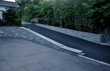 Trest hage entreprenør i Oslo og Akershus, legging av asfalt, heller Aaltvedt, støttemur håndstein